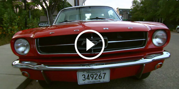Kids find then surprise parents with their 65 Mustang