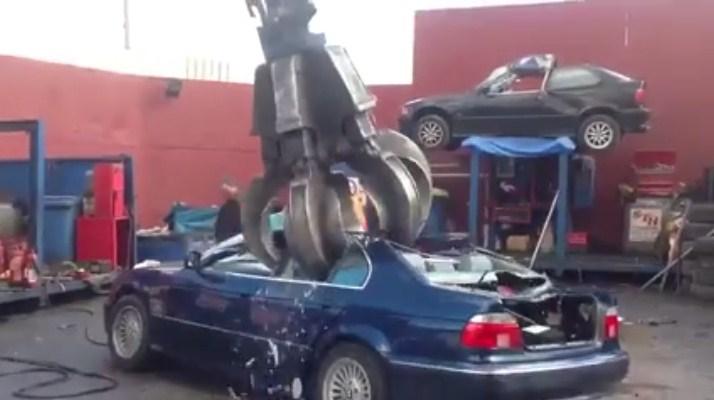 A DECENT BMW Has Turned Into SCRAP METAL DESTRUCTION Machine