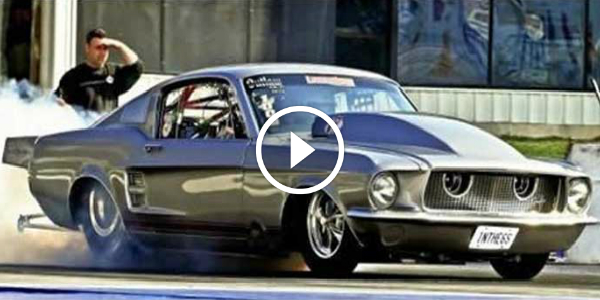A DRAG RACE With Frank Pompilio 1967 MUSTANG 4.05 Seconds 196 MPH 34