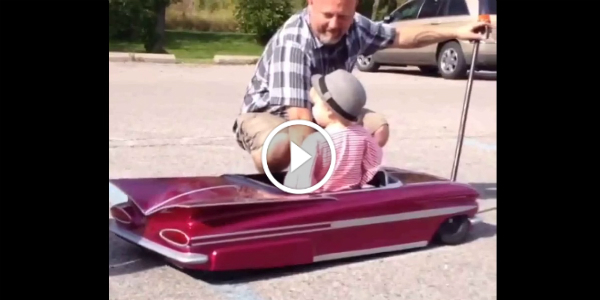 Baby Girl Checks The New Hydraulic System Of Her New 1959 IMPALA TOY CAR 165