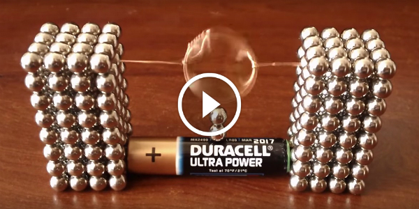This Simple Bucky Motor Will Leave You Stunned Ll Only Need Magnetic Copper Wire Aa Battery Muscle Cars Zone