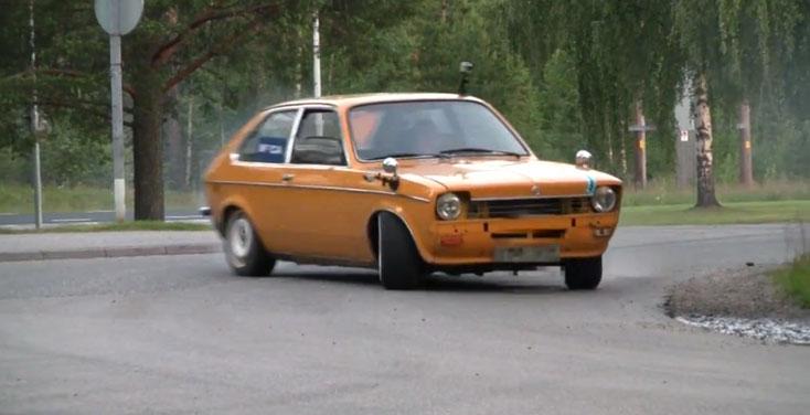 DRIFTING An Old-School Opel Kadett Powered By A BMW M60 Motor 2