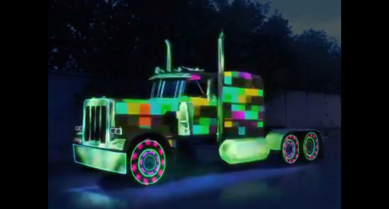 FANCY COLORFUL TRUCK It Changes The LED Lights With The Music
