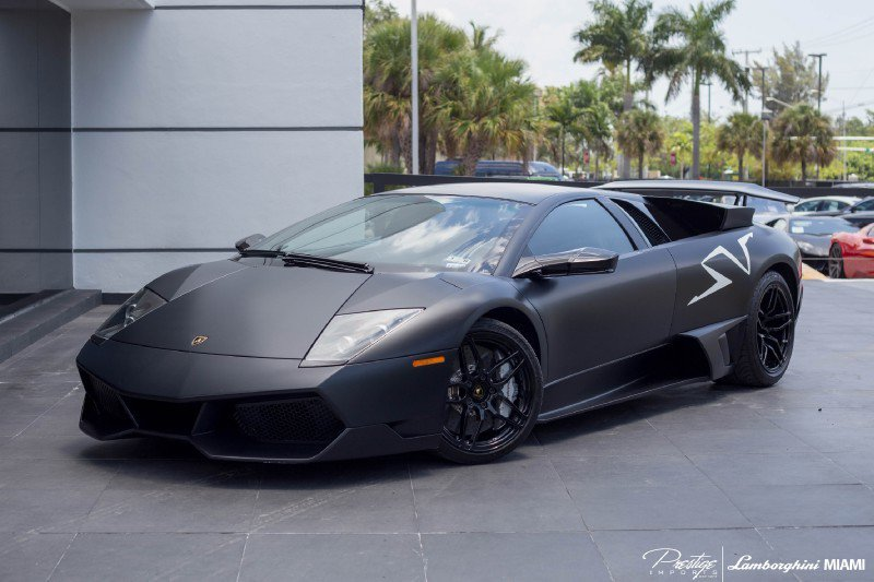 matte black murcielago for sale in miami 5 muscle cars zone. Black Bedroom Furniture Sets. Home Design Ideas