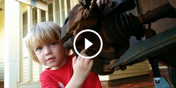 5 YEAR OLD KID MECHANIC Phoenix How To Replace A Wheel Bearing 12