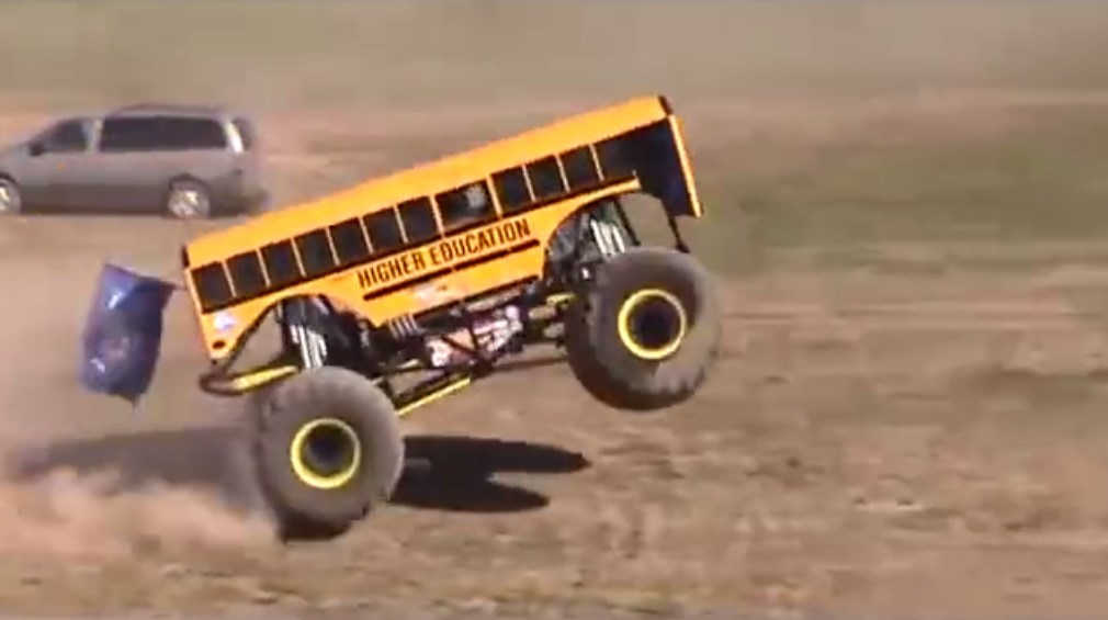 Extremely LOUD Monster School Bus Is Showing Off 3