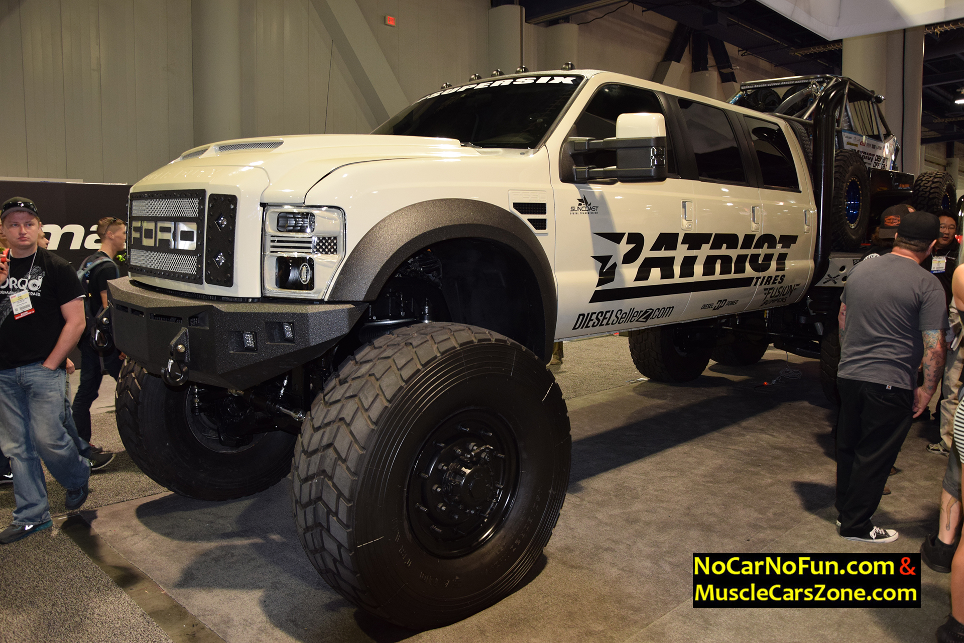 Huge 6-door Ford Truck by DieselSellerz with Buggy On Top - 2015 SEMA Motor Show - 1 - Muscle ...