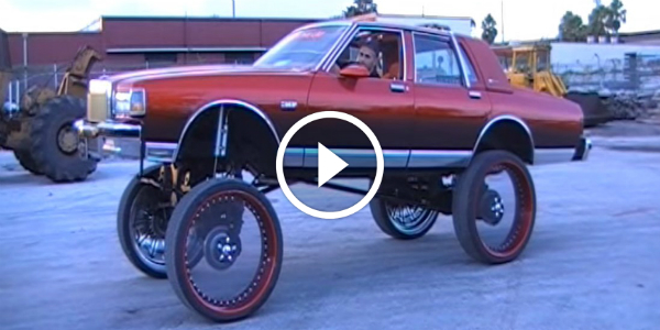 20 Inch Clear Wheels AIR BAG SUSPENSION What Do You Think Of This Extremely LIFTED Car