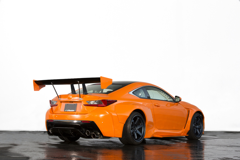 Two Tweaked Lexus Orange Cars 10