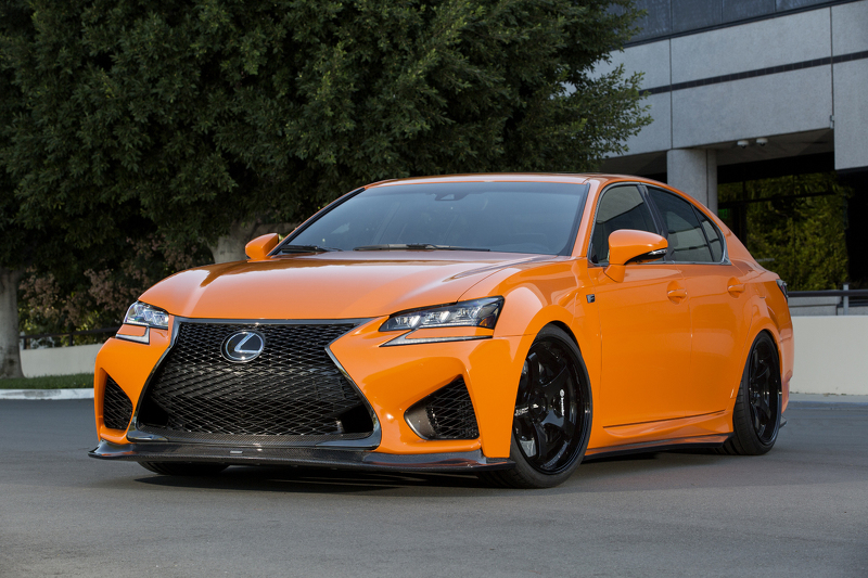 Two Tweaked Lexus Orange Cars 6