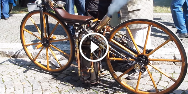 FIRST MOTORCYCLE IN THE WORLD – SYLVESTER ROPER 1869!