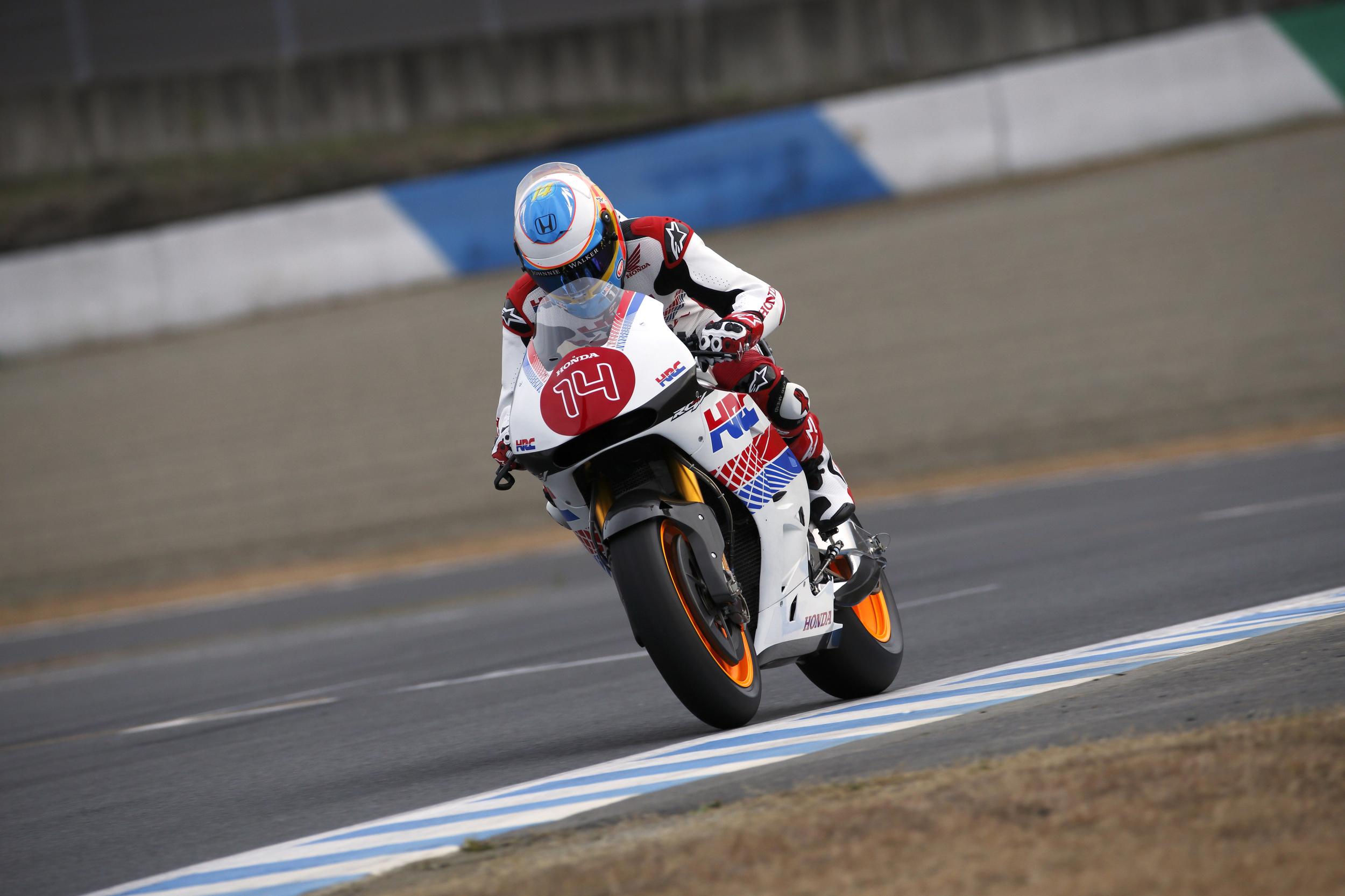 Fernando Alonso Rode Honda RC213V 2