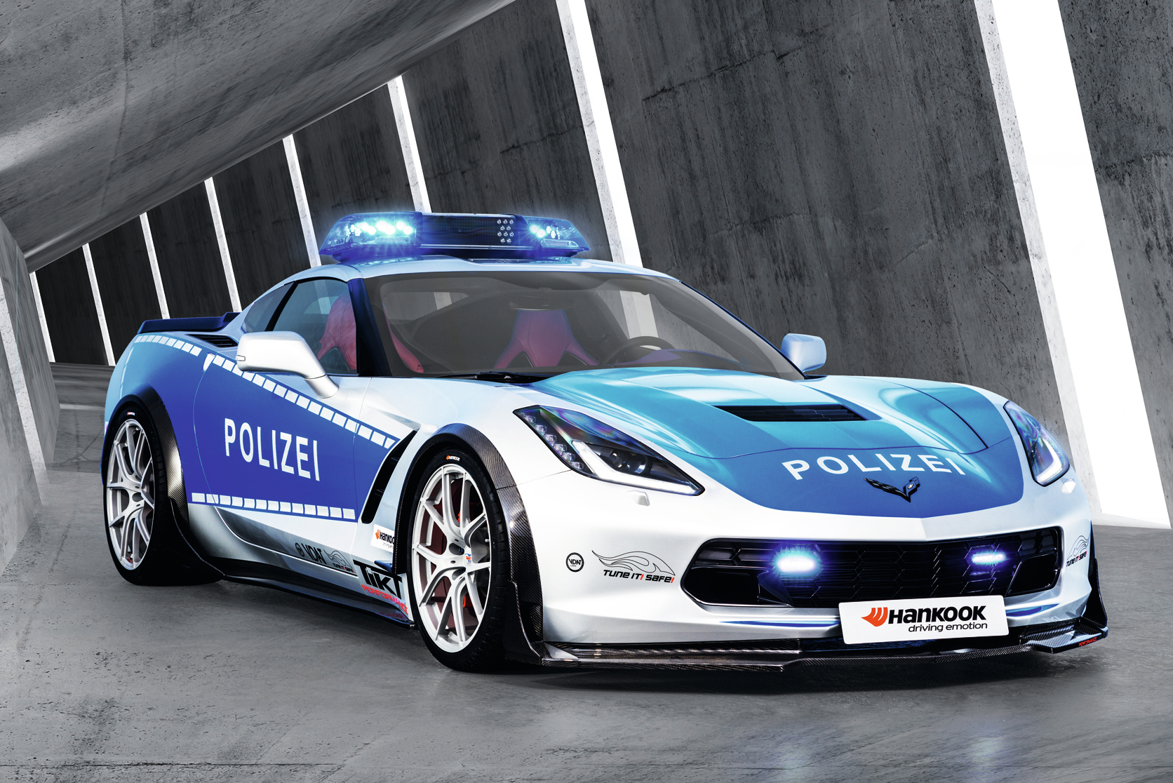 German Police Chevrolet Corvette 1 - Muscle Cars Zone!