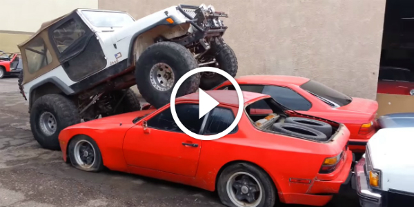 Jeep Crush As It Goes Over & Crushes BMW Mercedes-Benzes Chevrolet 3