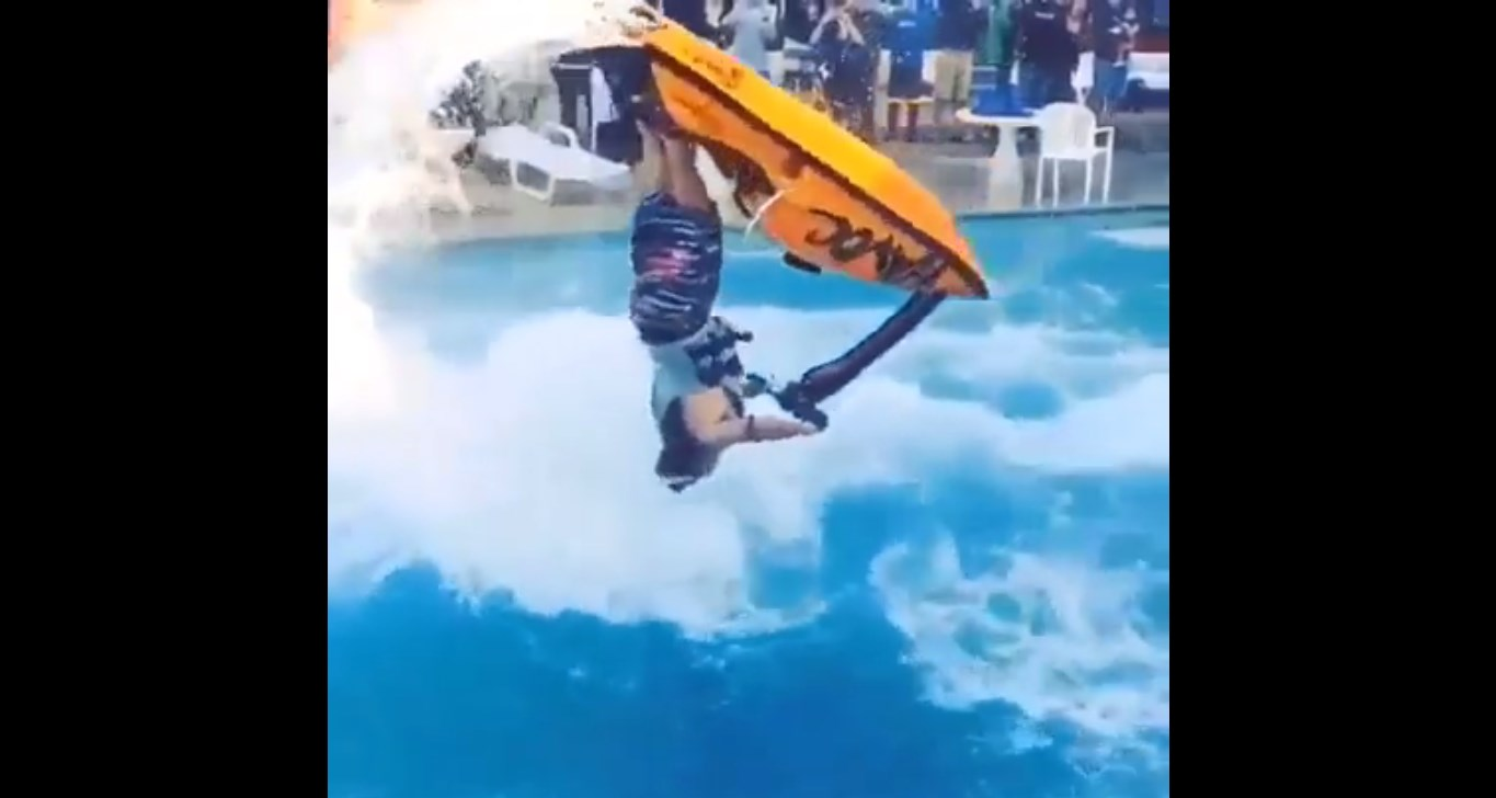 Jet Ski Skills Johnny Leftly! Triple Standing Backflips In A Pool 3
