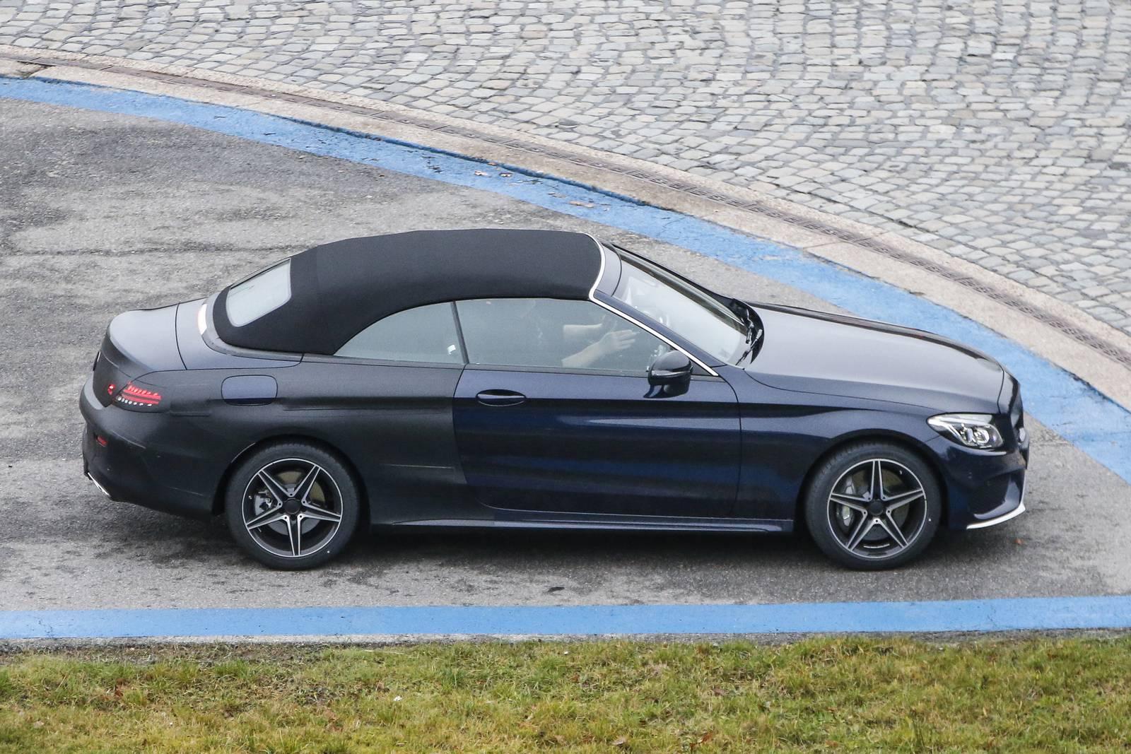 Spy images from drop top 2017 new mercedes c class prototype for Mercedes benz drop top