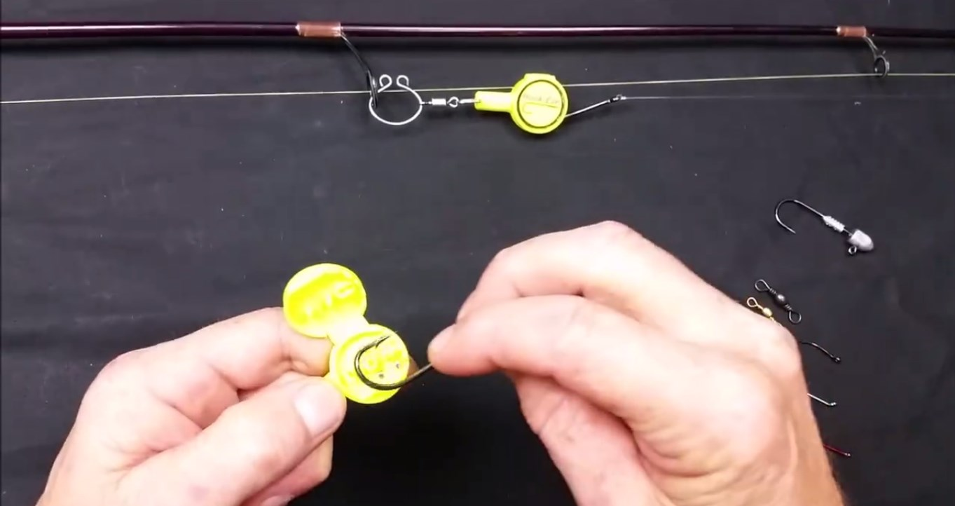 This is the hook eze fishing tool that every fisherman needs for Fishing knot tool