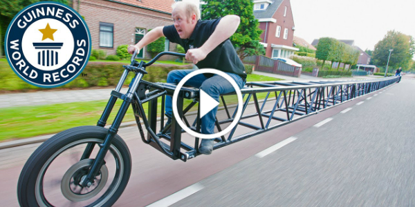 the longest bike in the world measures 117 feet 5 inches. Black Bedroom Furniture Sets. Home Design Ideas