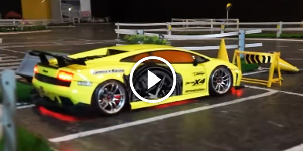 A Great Display Of Exceptional Drifting Skills With Rc Lamborghini