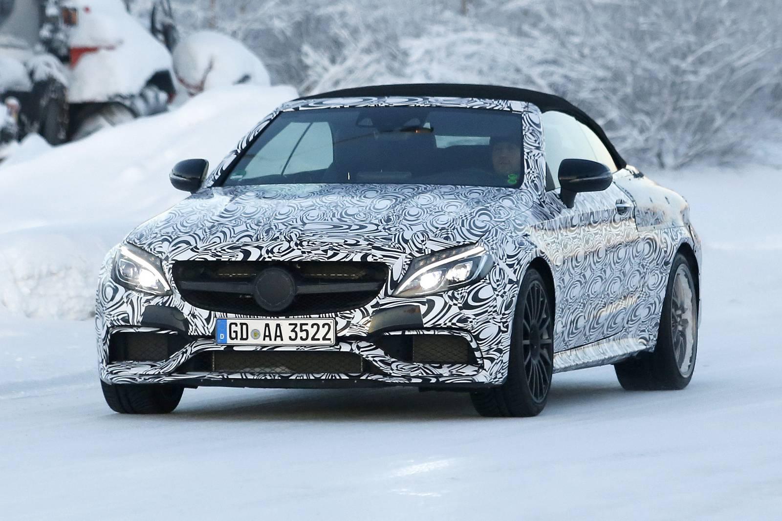 2017 Mercedes-Benz C63 AMG Cabriolet Spy Shots 7