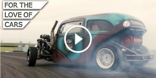 Homemade 1953 Ford Anglia Saab Turbo Drift Rod 1 play