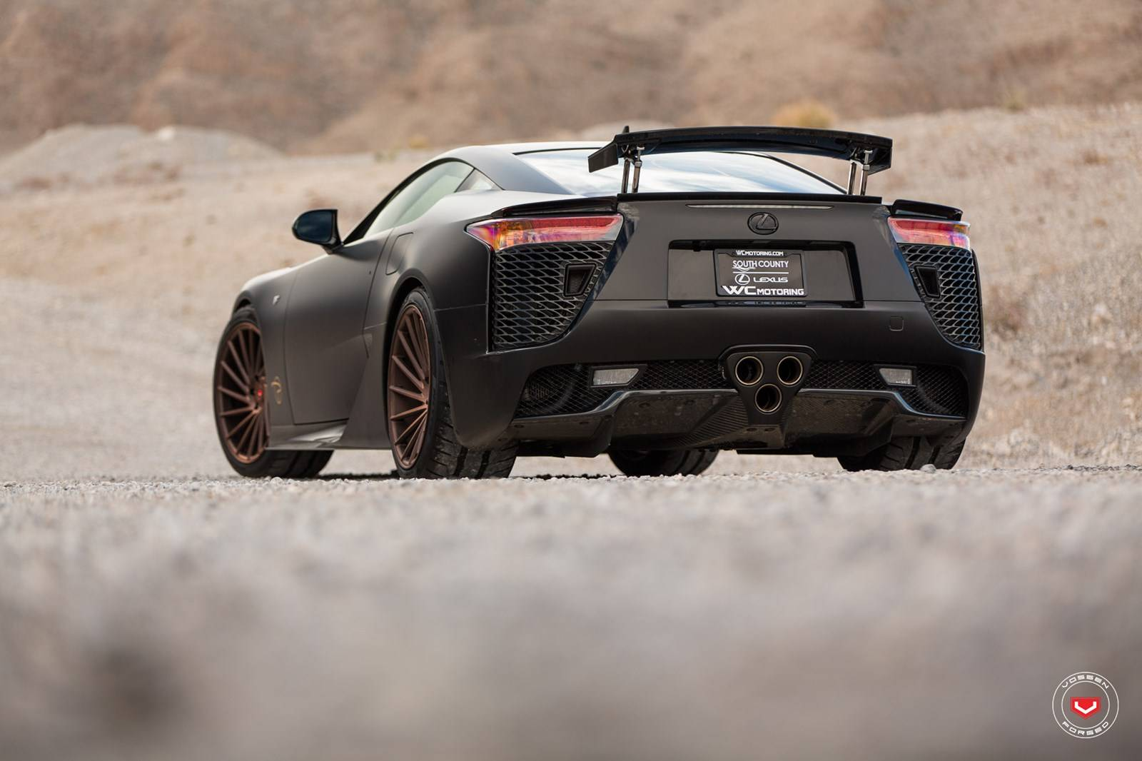 Marvelous Black LEXUS LFA Sitting On Bronze Vossen Wheels 2
