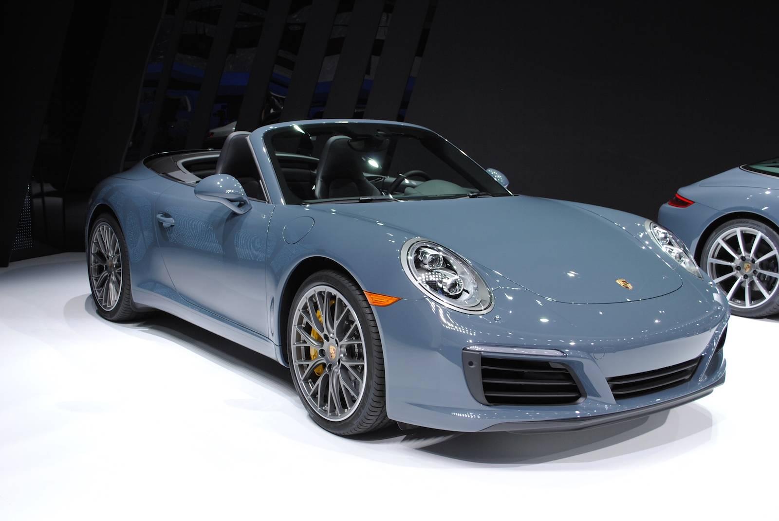 2016 detroit motor show porsche 911 carrera s cabriolet. Black Bedroom Furniture Sets. Home Design Ideas