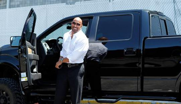 Lifted Ford Flex >> Christmas Gift From THE ROCK - The BLACK GORILLA Ford Truck!