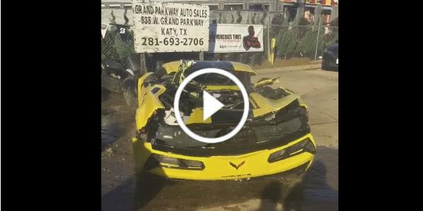 2016 corvette z06 c7r wrecked 1 TN