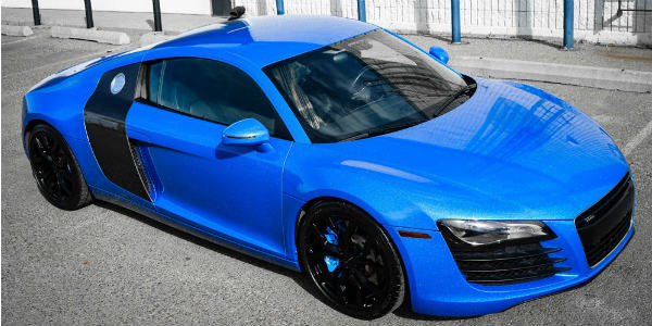 ZR Auto With A Great Shimmer Blue New Audi R8 – Real Beast! - Muscle