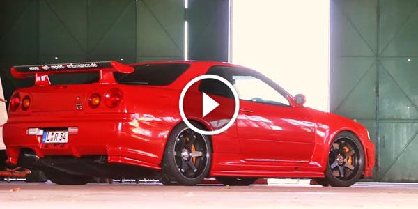 2016 Nissan Skyline >> The SKYLINE GTR At Its Best! Just Have A Look At This Red NISSAN SKYLINE GTR R34 V-SPEC & Make ...