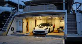Chevy Corvette Z06 Loading On La Pellegrina Luxury Yacht In Miami 11