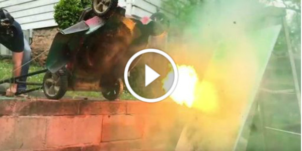 Tractor Mowing Painting : Explosive art lawn mower painting gone wrong don t try