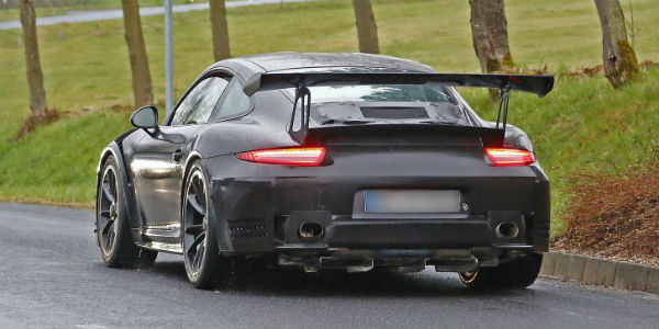 porsche 911 gt2 rs in a body of gt3 rs new spy shots