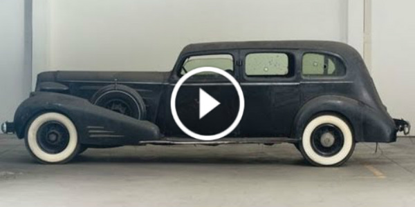 1936 Cadillac Limousine With Bulletproof Glass 21