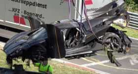 Koenigsegg Crash Nurburgring Ring Most Expensive Crash Koenigsegg One 4