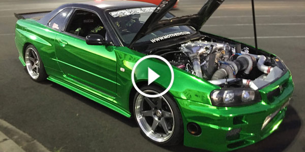 Wow Check Out This Babe Skyline Gtr R34 Powered By A R35 Engine