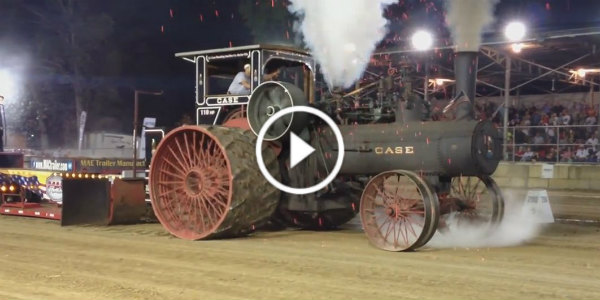 Case Steam Tractor Pull Fire Show 110hp 31