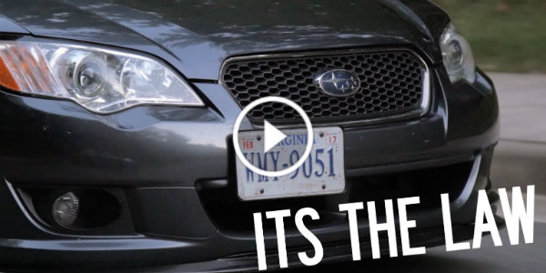 Electric Powered License Plate Frame Shows Hides Button 11