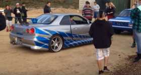 Paul Walker Nissan Skyline R34 GT R Loading 33