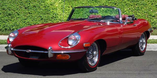 1963 Jaguar XK-E Roadster top 10 classic british sports cars