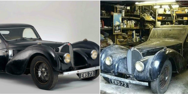 Barn Find MILLION 1937 Bugatti Type 57S 48 Years 1