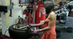 Gearhead Wife Car Tire Change 7
