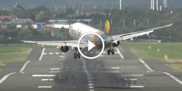 Gusts VS Guts! Airbus A321 Plane cross wind landing 21