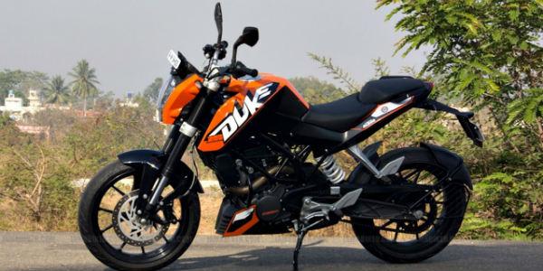 KTM 200 Duke top 5 motorbikes students