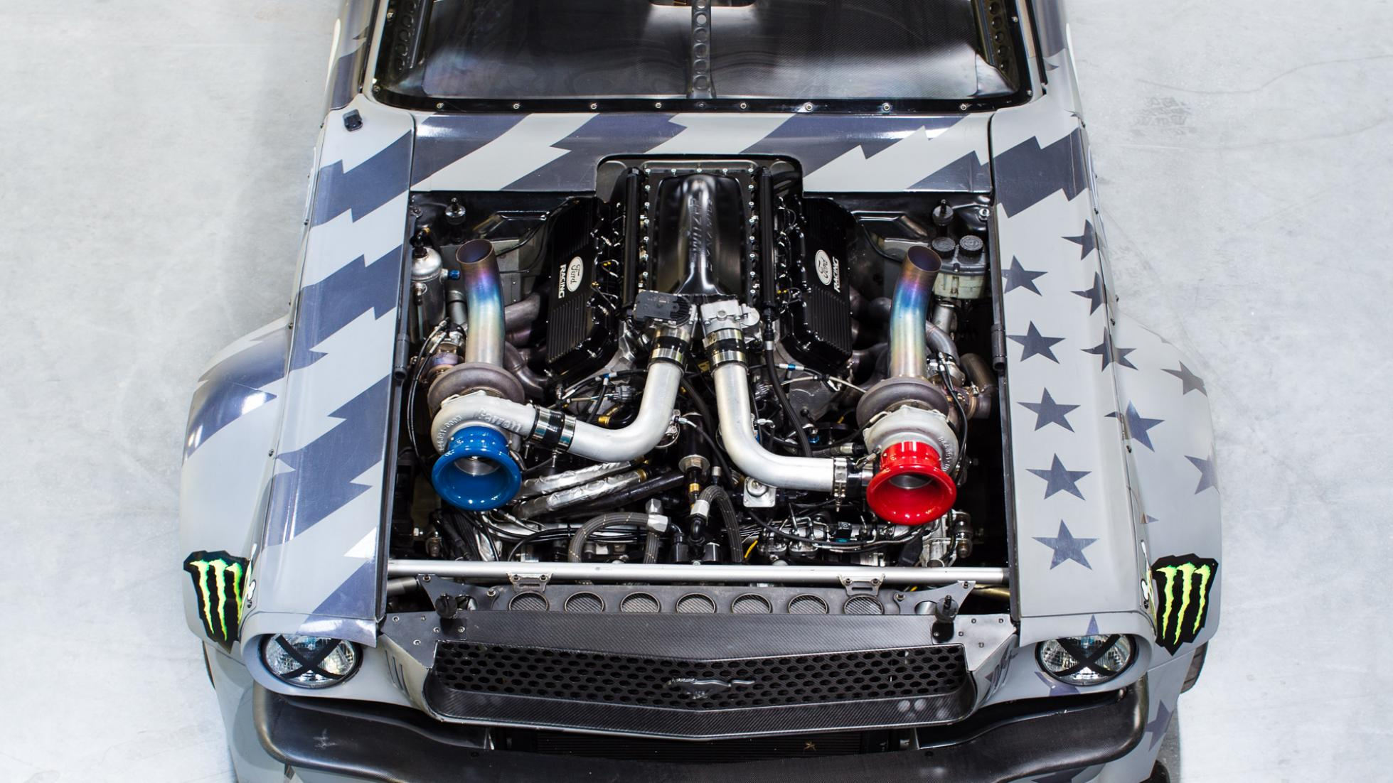 Ken Blocks New 1400 HP Hoonicorn Mustang 2 two turbos 4