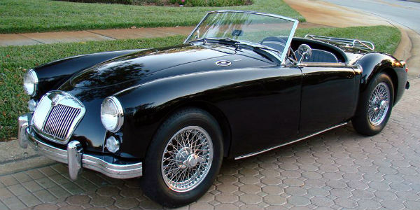 MG A 1600 roadster top 10 classic british sports cars