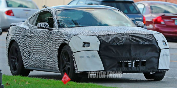 New 2018 Ford Mustang spy photos detroit 4