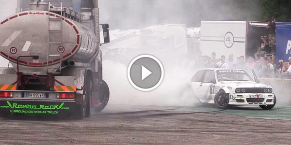 Drifting truck Vs BMW E30 Proto