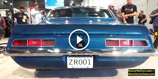classic blue Chevrolet Camaro ZR